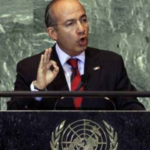 Mexican President Felipe Calderon ask for drug policy debate at the UN