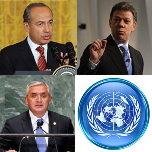 Colombia, Guatemala and Mexico issued a joint declaration demanding the UN revision of drug policy