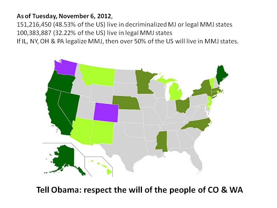 States with medical or decriminalized marijuana