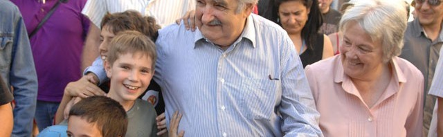 Uruguayan President Jose Mujica and his wife Lucia Topolansky